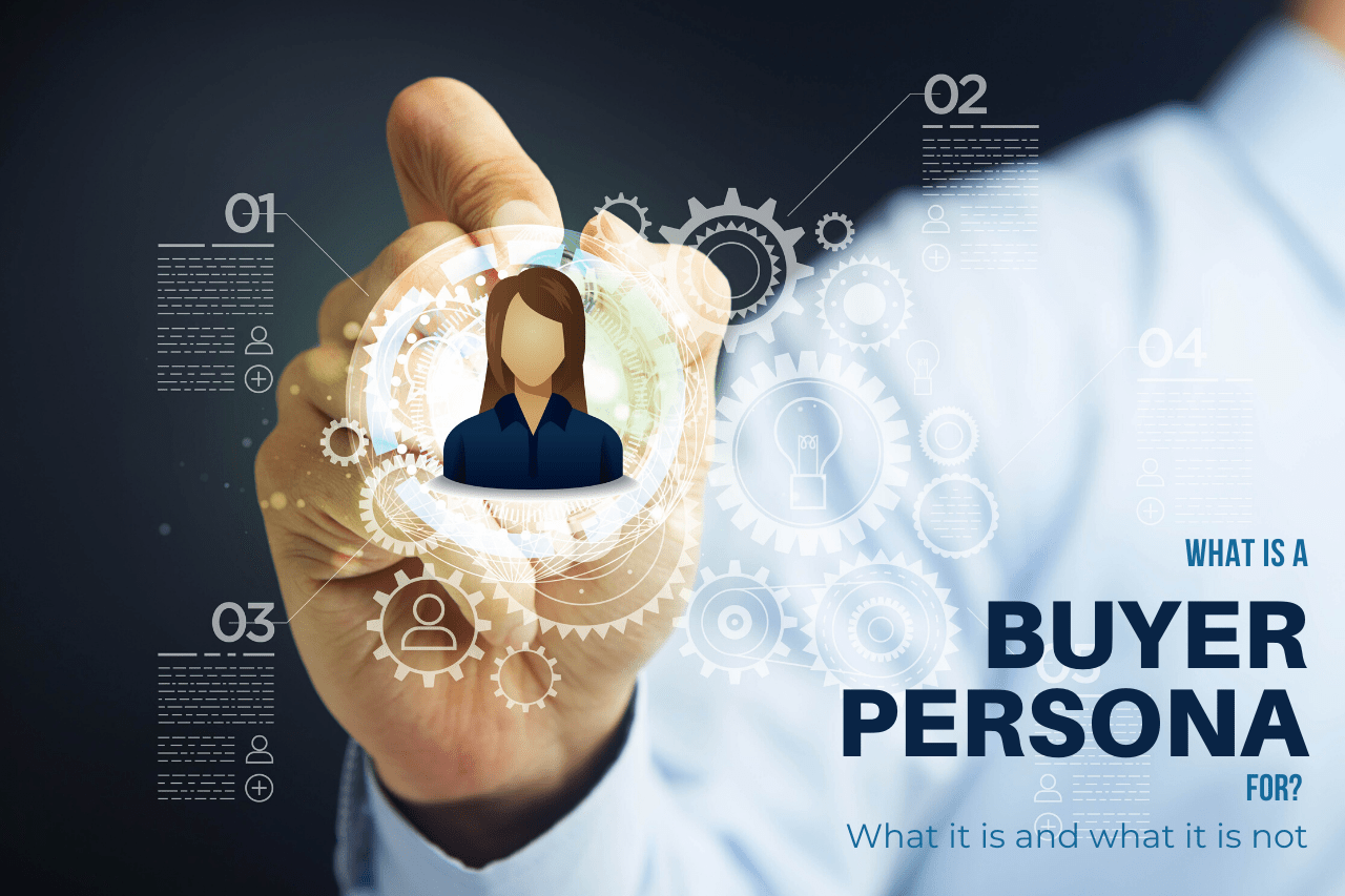 A man's hand drawing a profile of a Buyer Persona