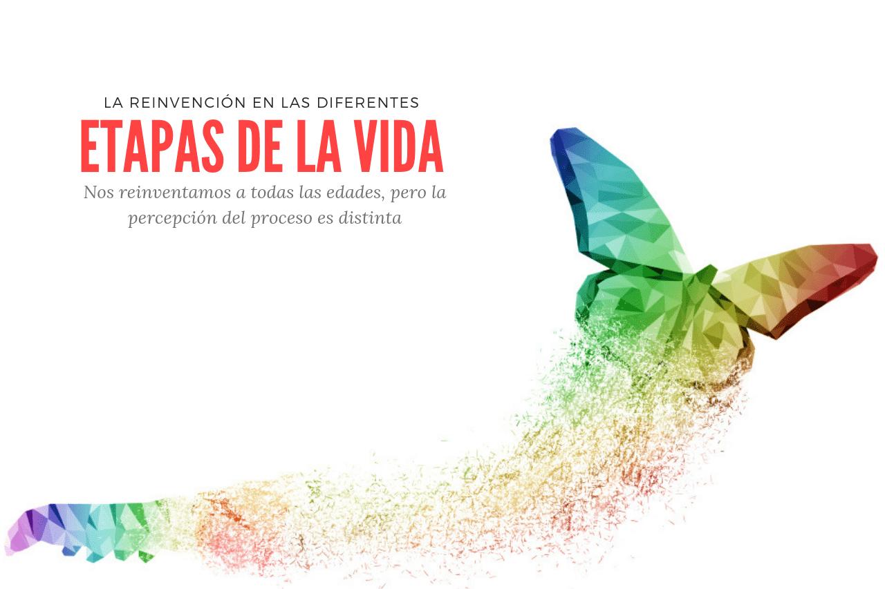 Proceso abstracto de Metamorfosis de una mariposa. Simula reinvención y vida