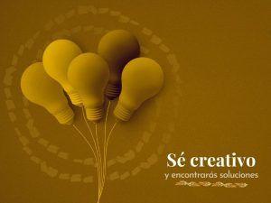 Ramillete de bombillas como analogía de ser creativos
